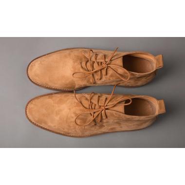 Бежевые ботинки из замши